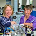 Dr Angela Lamb and Professor Jane Evans in the isotope laboratory.
