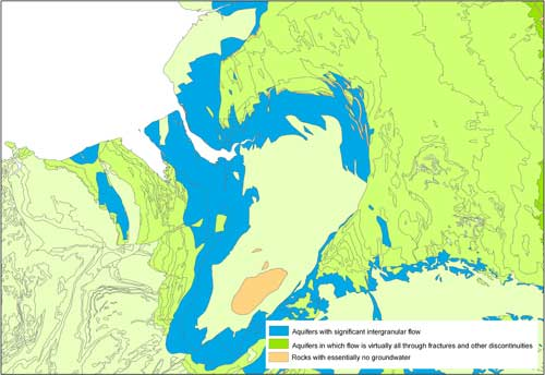 A sample image of a hydrogeological map