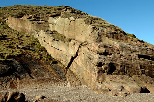 A thick Carboniferous channel sandstone unit within a 'Yoredale' cycle, Northumberland — an analogue for reservoir sandstones in the Carboniferous play of the Central North Sea (P662952).