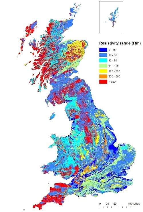 BGS UK Resistivity map