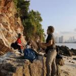 Fieldwork on the island of Tekukor, Singapore