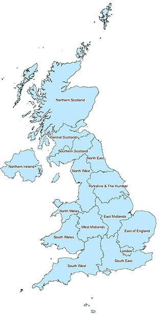 BRITPITS Regions