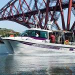 BGS White Ribbon boat on the Firth of Forth