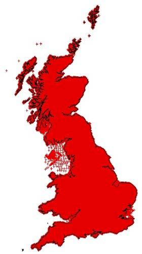 GB Land Gravity Map