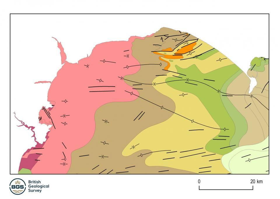 Example marine bedrock map