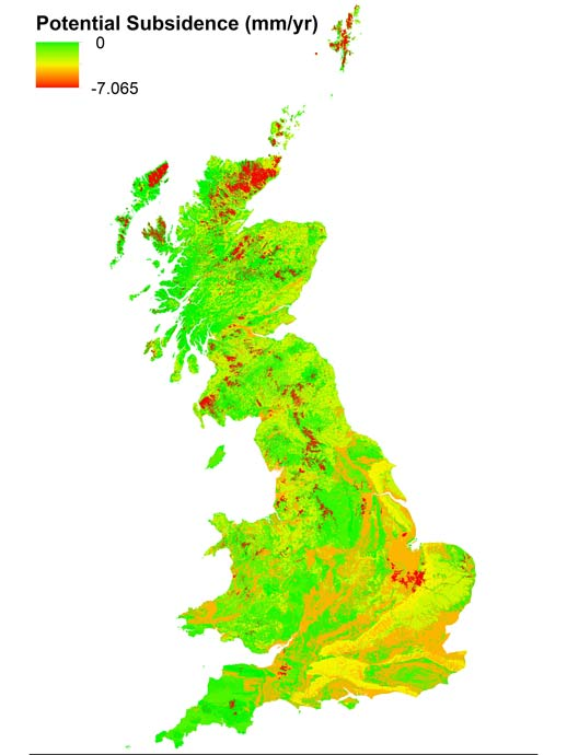 Potential rates of natural subsidence