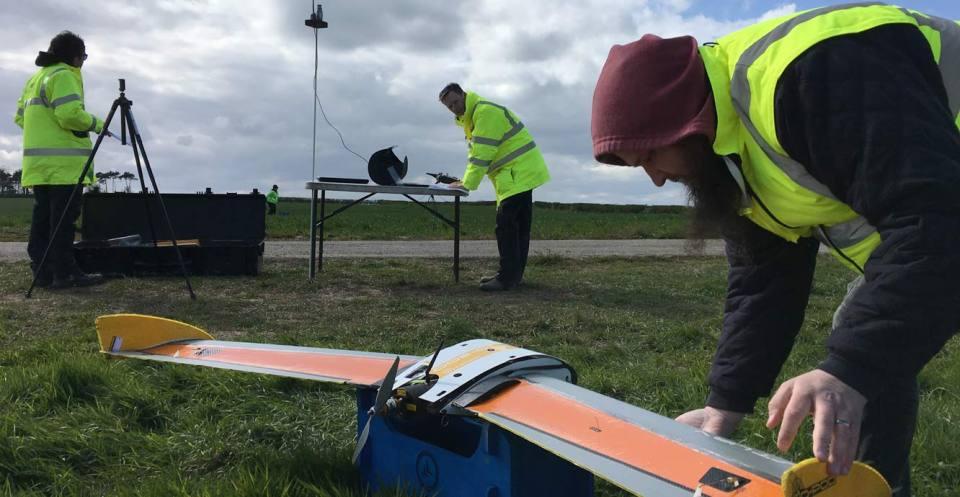 Pre-flight checks of the BGS gas sensor drone