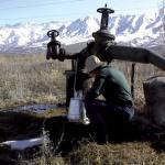 Groundwater sampling Kyrgyzstan