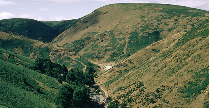 Burway Hill, Long Mynd. Looking NW.