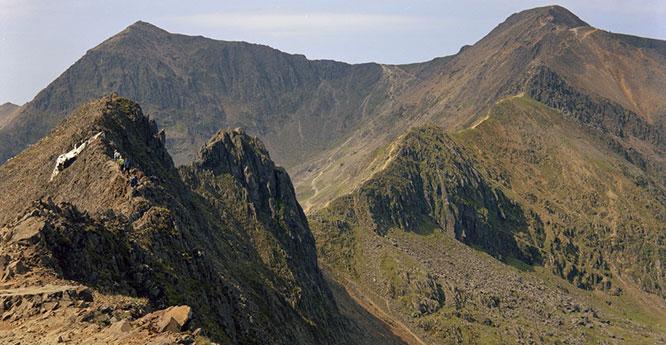 Crib Goch ridge. Looking WSW.
