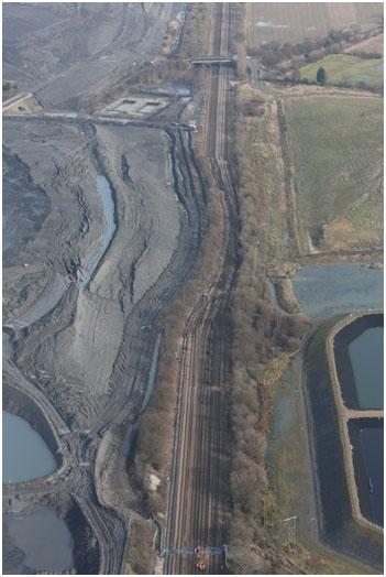 Railway deformation at Hatfield Colliery landslide. Photo: 16 February 2013 ©Network Rail.