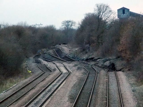 Photos of the Hatfield Colliery landslide, taken on the 23rd of February 2013).