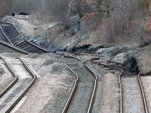 Photos of the Hatfield Colliery landslide, taken on the 23rd of February 2013.