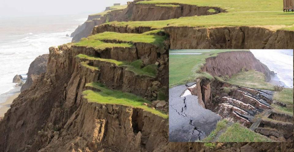Landslide slumps, Aldbrough