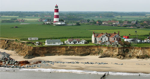 Figure 1 The eroding coast at Happisburgh in Norfolk.(Photo: © Mike Page)
