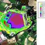Mine waste map at Wheal Jane mine