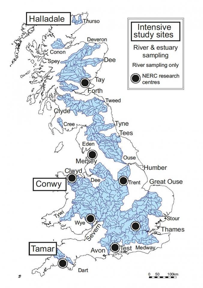 LOCATE sample site map