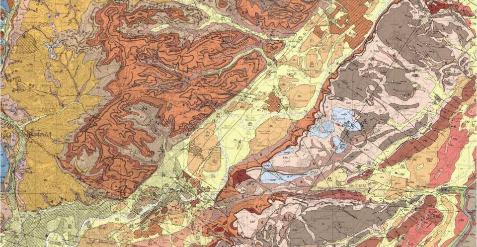 Geological map of Nottingham