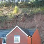 Jointing seen in the sandstone, particularly on the western quarry slope © BGS.