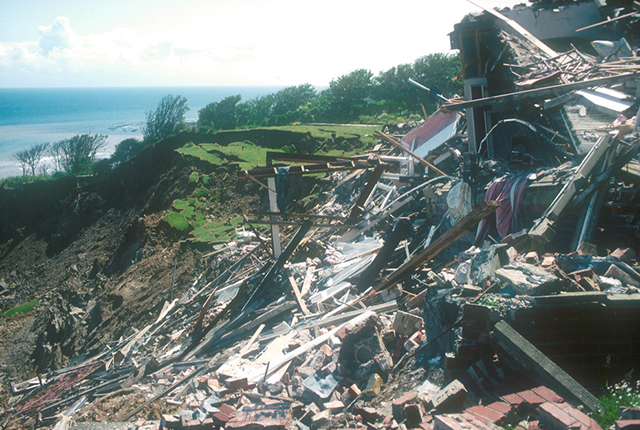 Debris from the hotel.