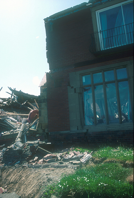 Damage to the hotel.