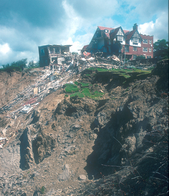 Holbeck Hall Hotel landslide.