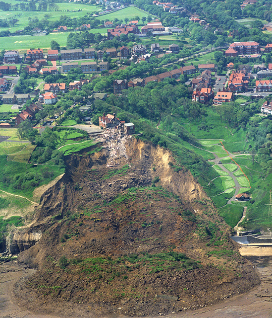 Holbeck Hall landslide from the air