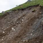 The Stob Coire Sgriodain landslide backscarp.