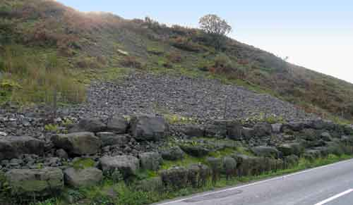 Another remediated landslide along the A59.
