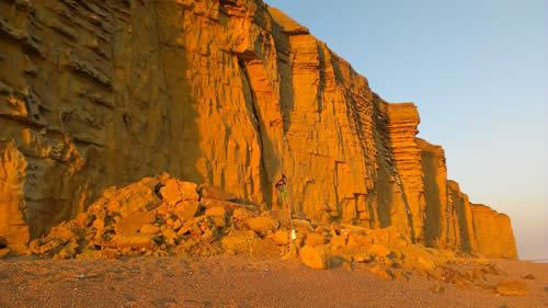 The Burton Bradstock rock fall landslide of 24 July 2012.