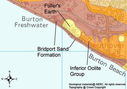 Geology of Burton Bradstock area.