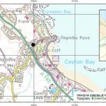 Figure 1 Location of Cayton Bay, North Yorkshire. The black point marks the position of the backscarp. National Landslide Database ID 6882/1 and 6882/2.
