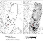 Maps showing (a) known faulting in the carboniferous strata underlying the Sherwood sandstone outcrop and that faulting identified from the 'Coal Abandonment Plans' where the throw is >70 m and (b) how the identified faulting pattern in the carboniferous.