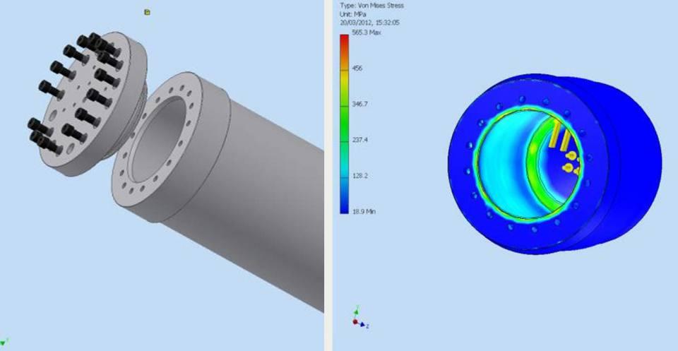 Coal bed methane permeameter