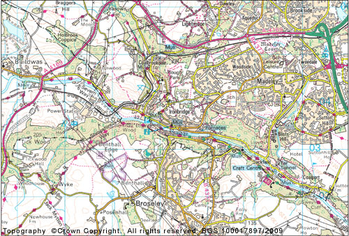 Figure 3 Ironbridge Gorge map.