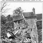 Figure 4 Pear Tree Cottage, damaged by the 1952 Jackfield landslide and demolished the following year (Manchester Guardian, 10th April 1952).