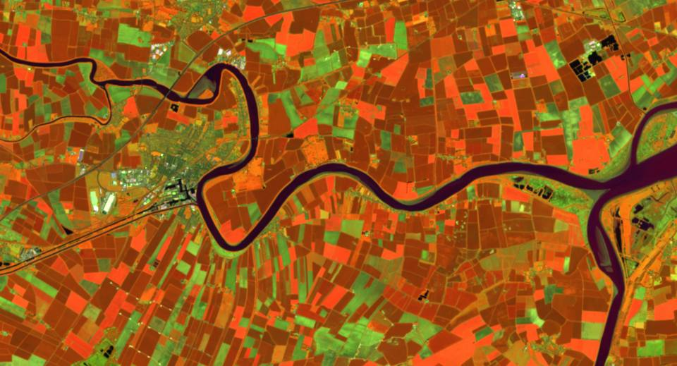 River ouse satellite image from Sentinal data