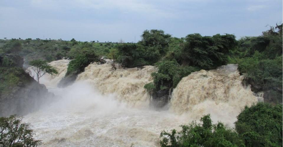 Awash River, Ethiopia at the Awash Falls during the rainy season (Sept 19)