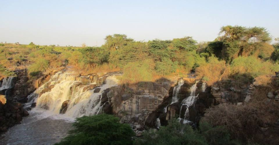 Awash River in Ethiopia at the Awash Falls during the dry season (March 2019)