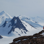 BGS scientist collecting samples from Mt Holt for cosmogenic dating to help determine the rate of thinning of the West Antarctic Ice Sheet since the Last Glacial Maximum.