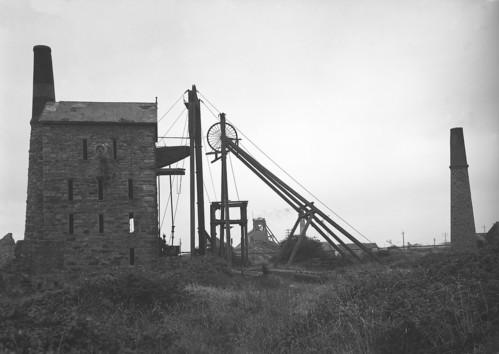 Agar Shaft engine, East Pool Mine, Cornwall