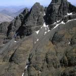 Pinnacle Ridge, Sgurr nan Gillean from Am Bastair, Skye, Scotland.