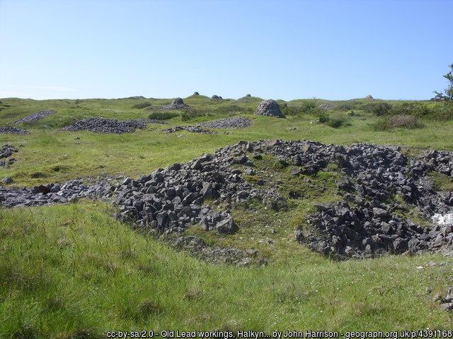 Old Lead workings, Halkyn Mountain