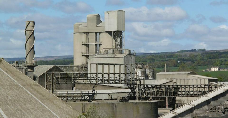 A cement works in Clitheroe. The cement industry produces around 5 per cent of global man-made CO2 emissions. Photo by Alan Murray-Rust.