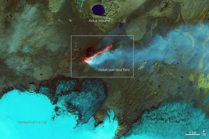 Holuhraun lava field, Iceland