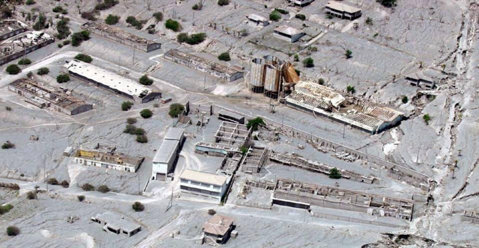 Lahars. Fort Ghaut deposits. Montserrat