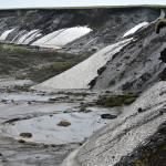 Thawing permafrost in Herschel Island, 2013. Source: Boris Radosavljevic.
