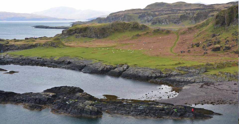 Raised beach at Port a' Chaisteil, Kerrera.