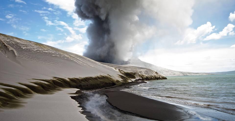 Volcanic ash dunes of Tarvurvur, Papua New Guinea.