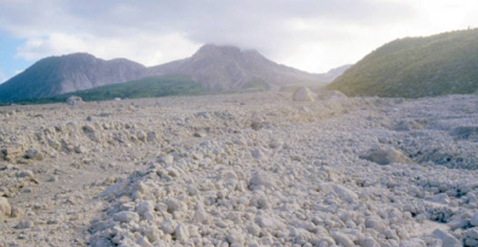 Pumice deposits, pyroclastic flow, Montserrat